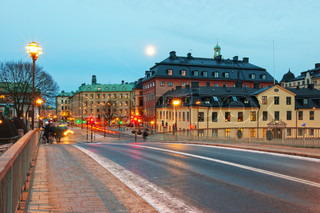 Beautiful city of Stockholm at dusk