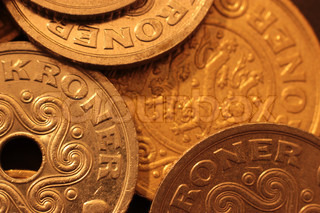 Danske mønter / Danish coins - close up