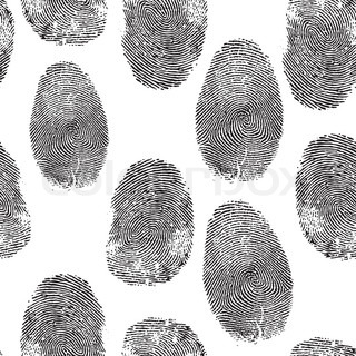 Vector thumb print background