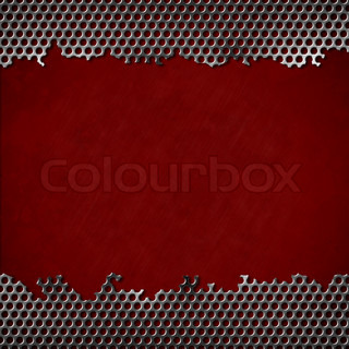 perforated metal with dark red background