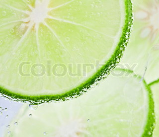 Fresh lime and soda water