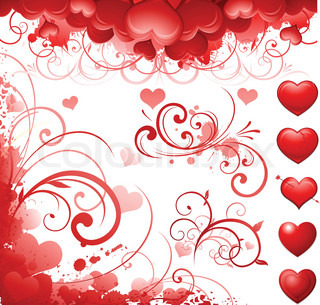 Valentine's day decorative design and background
