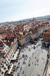 prague, old town square, view from town hall tower