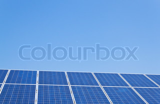 renewable, alternative solar energy. solar energy power plant.
