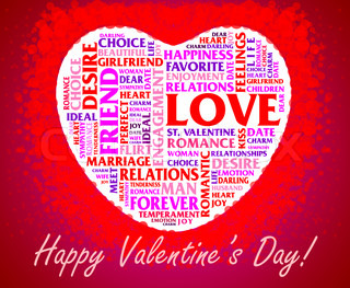 Valentine's Day collage over heart shaped background