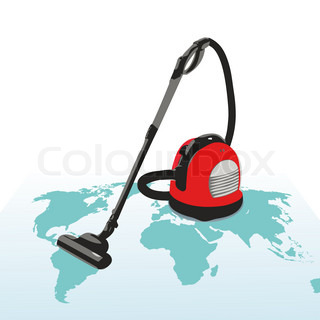 Vacuum cleaner on the world`s map