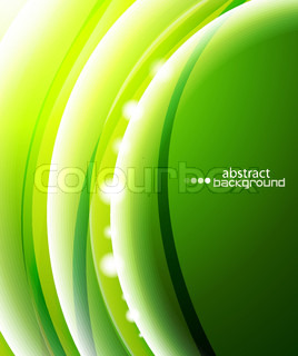 Creative green wave vector background