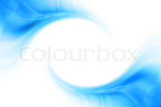 Abstract business background with blue curved waves