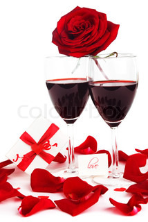 Romantic holiday drink, celebration of Valentines day, love concept