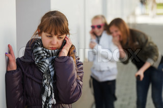 Teenage girl calling on the phone