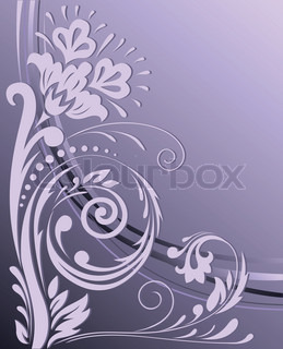 on the vertical purple background