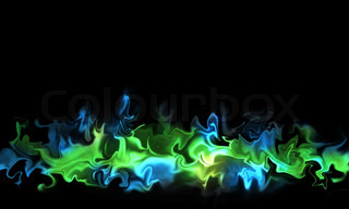 A horizontal background with a color smoke