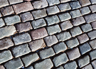 Cobble stone on the road