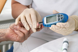 the blood sugar value is measured on a finger