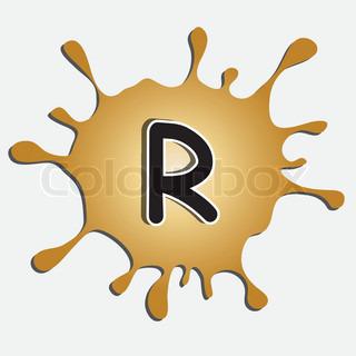 Der Buchstabe R in der inkblot