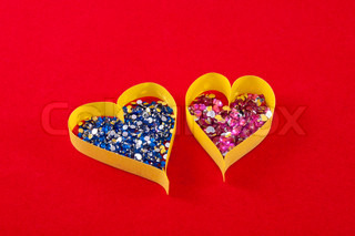 Paper Heart, a symbol of the holiday Valentine's Day