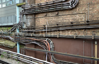 Electrial installation to train station in London