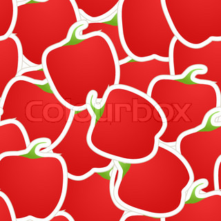 Red paprica seamless background