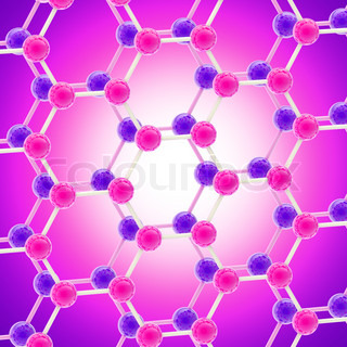 Abstract background made of bright molecular structure or social network