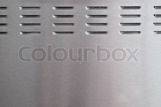 brushed metal with perforation