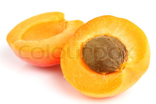 Sweet apricot on a white background
