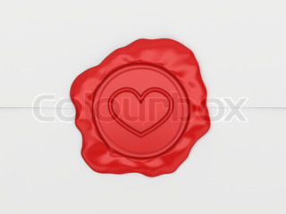 The letter sealed by a stamp with heart Ideal for valentines card, wedding, or any love related theme