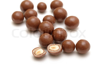 chocolate balls with nuts