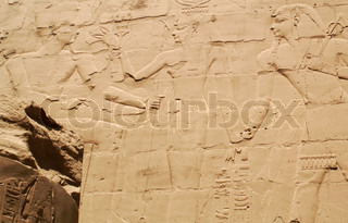 Egypt hieroglyphics in Luxor, signs