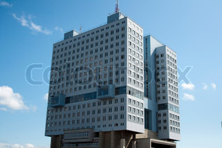 The big building in the city of Kaliningrad