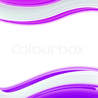 Wavy white and violet glossy bright design template, background