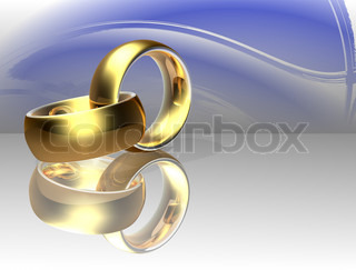 Two wedding ring on a abstract background