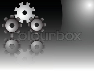 gears vector, abstract art illustration image contains transparency and opacity mask