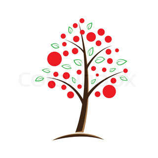 apple tree symbolic vector illustration