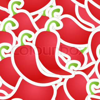 Hot red pepper seamless background