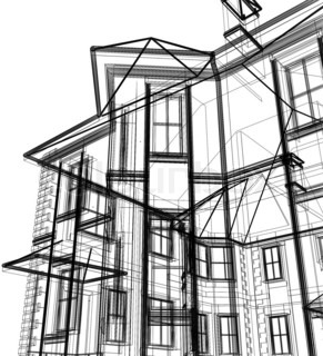 3d abstract modern architecture