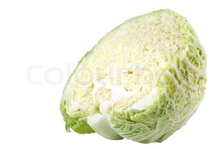 Half of cabbage isolated