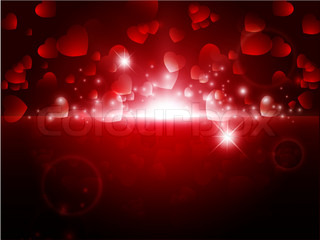 bright night Abstract Valentine background with stars and lights