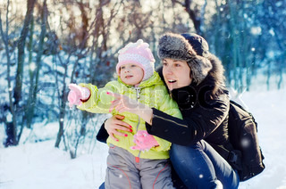 Image of 'child, winter, happy'