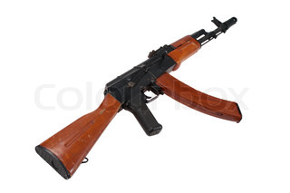 kalashnikov AK-74 isolated on white background