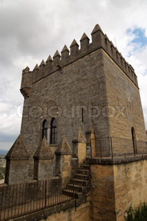 Tower of the medieval castle in Spain