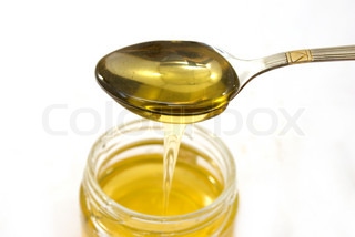 Image of 'honey, isolated, jar'