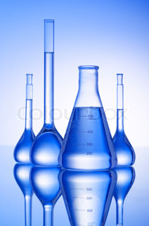 Chemical glass tubing in lab