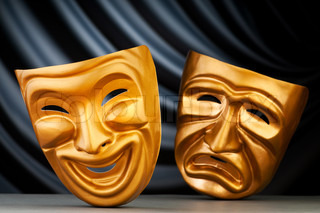 Masks with the theatre concept