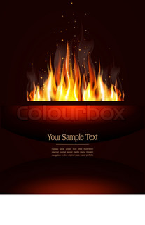 vector booklet with a burning flame and place for text