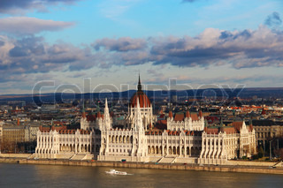 Famous Building of Parliament, Budapest