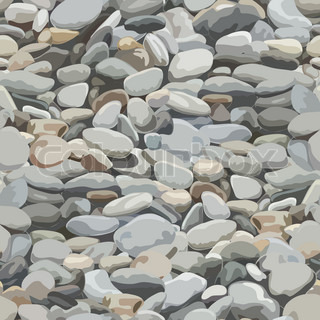 Seamless pebbles background for design and decorate.