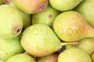Background of organic sweet pears