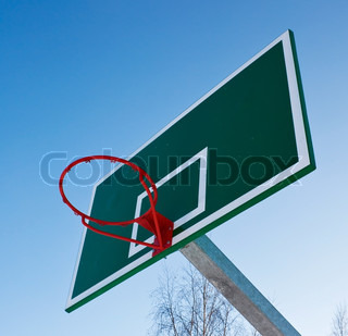 Basketball basket in the open air