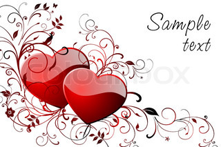 Happy Valentine's day greeting card with space for text