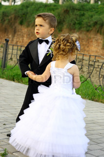 Boy and Girl, little bride and groom